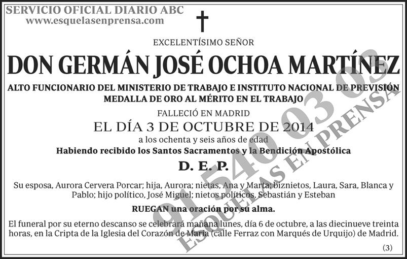 Germán José Ochoa Martínez